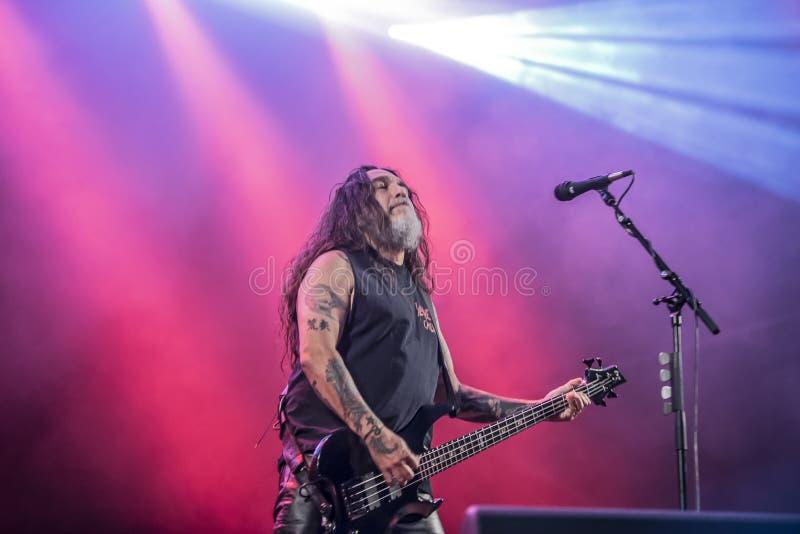Download Tony Skała, Slayer (dzień 3) Obraz Stock Editorial - Obraz złożonej z amerykanin, światło: 41955539