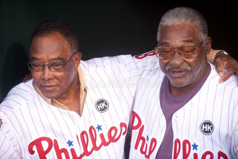 Tony Taylor and Allen. Philadelphia Phillie legends Tony Taylor and Allen royalty free stock image
