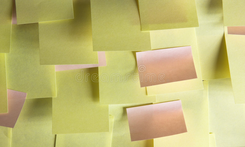 Download Too many notes stock photo. Image of backdrop, attached - 6851106