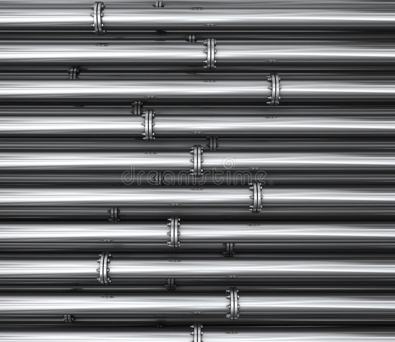 Too many pipes stock illustration