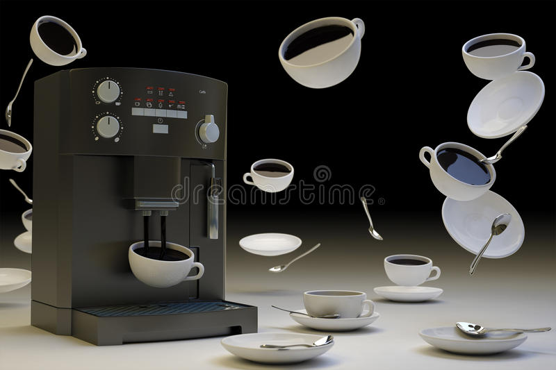 Download Too Much Coffee Black stock illustration. Image of brown - 16055093