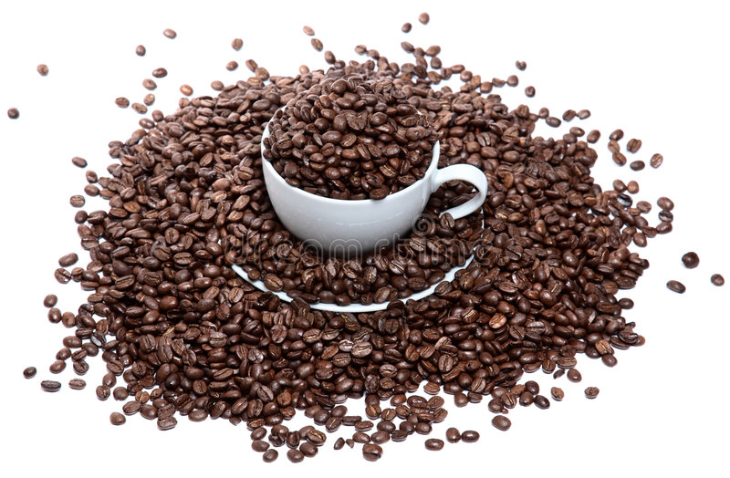 Download Too Much Coffee In A Cup Isolated Stock Photo - Image: 8017296
