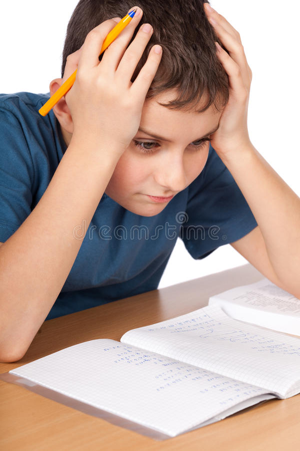 Download Too much homework stock photo. Image of modern, home - 18688772