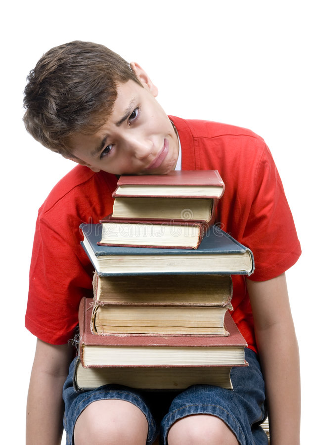 Download Too much homework stock image. Image of burden, stress - 3175263