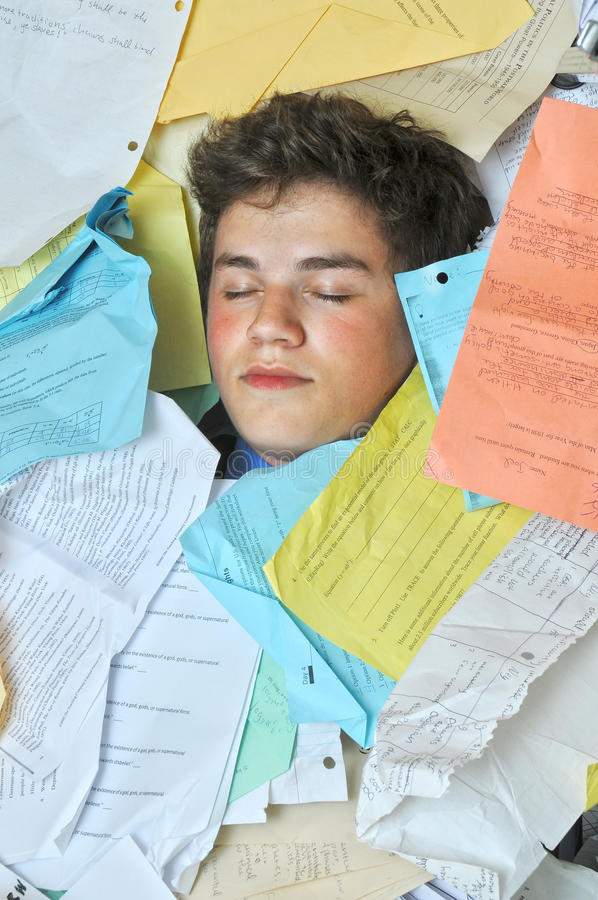 Too Much Homework Assignments Royalty Free Stock Image