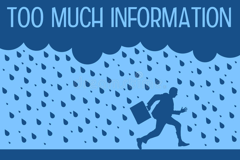 Too much information stock illustration