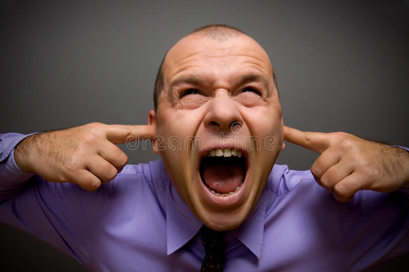 Download Too much noise stock photo. Image of caucasian, male - 12667842