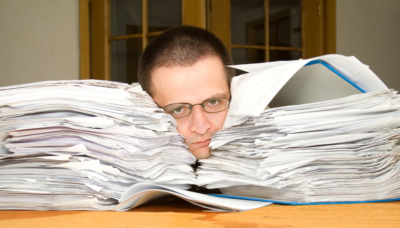 Too much paperwork stock photography