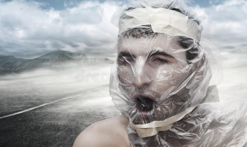 Too much pollution royalty free stock photos