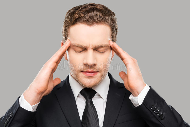 Too much stress. stock photo