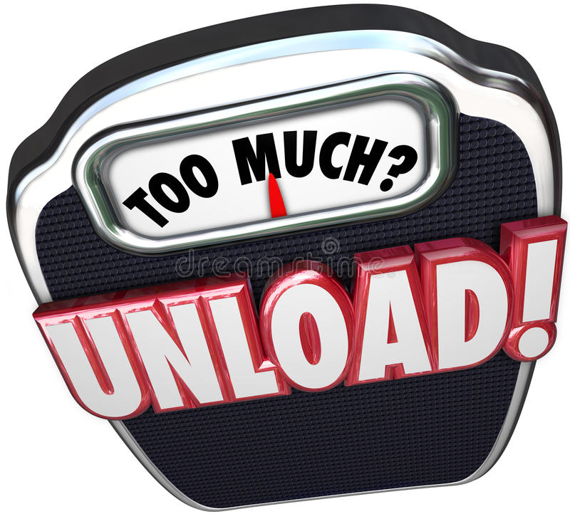 Free Too Much Unload Words Scale Share Responsibility Delegate Work Stock Images - 50492814