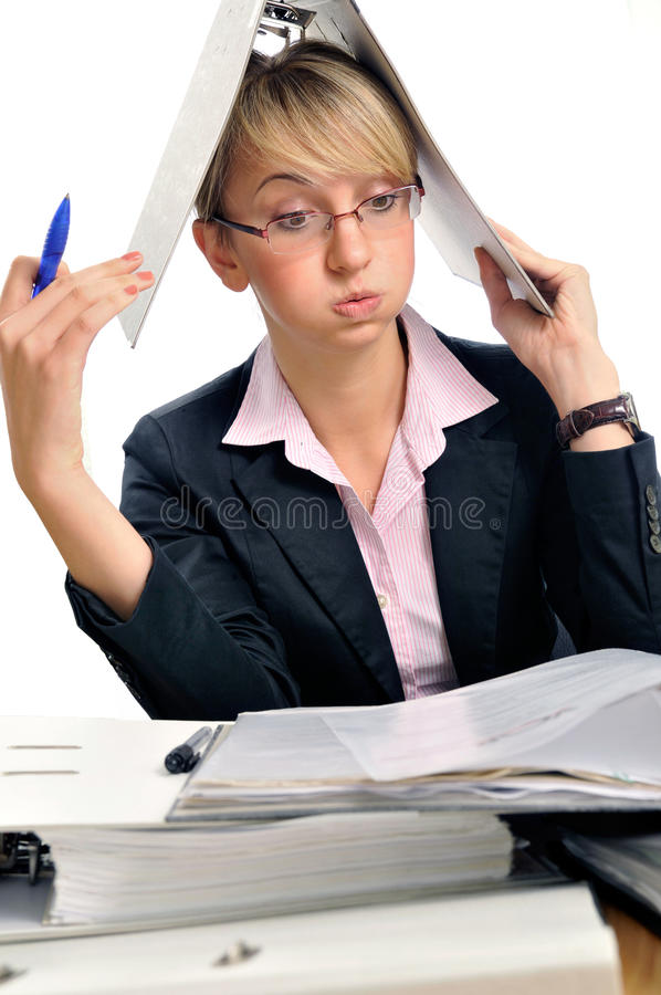 Too much work stock photography