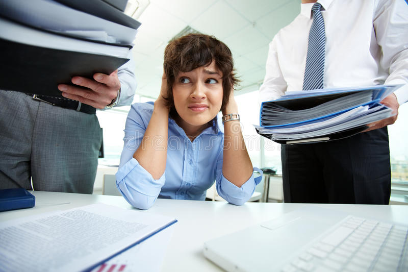 Too much work royalty free stock photography