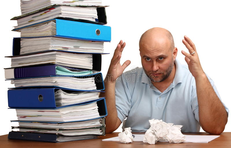 Too much work royalty free stock photo