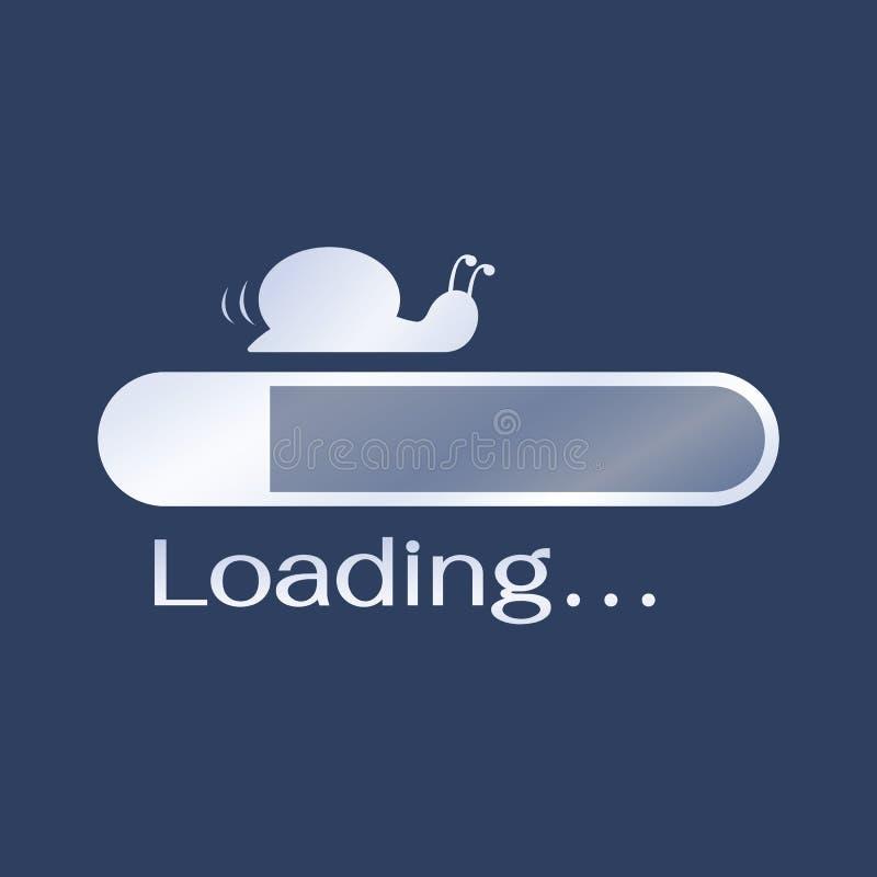 Too slow loading royalty free illustration