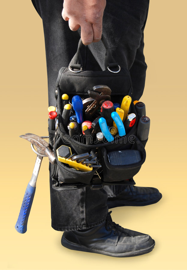 Tool bag stock image