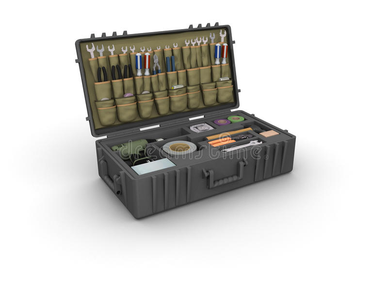 Download Tool Box stock illustration. Illustration of screwdriver - 15332851