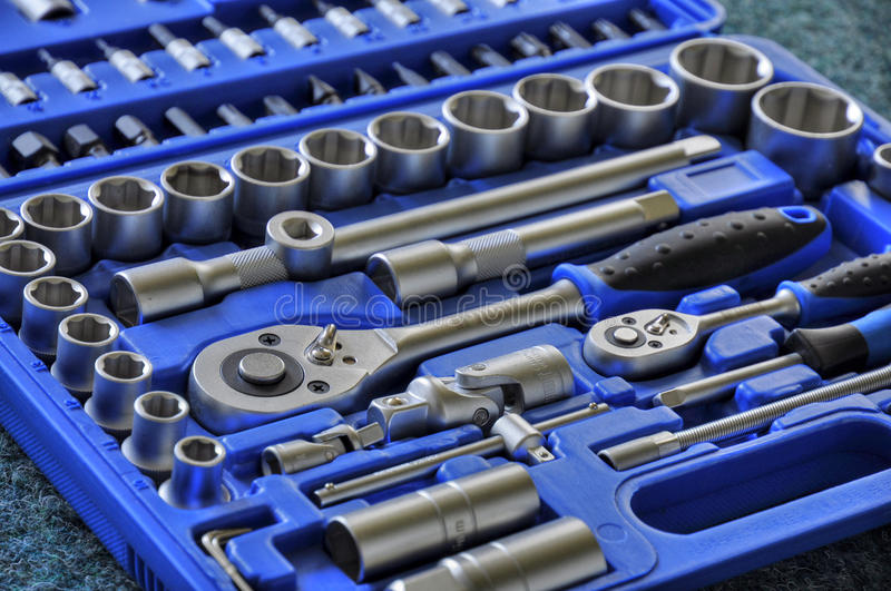 Tool box. With various type of tools royalty free stock image