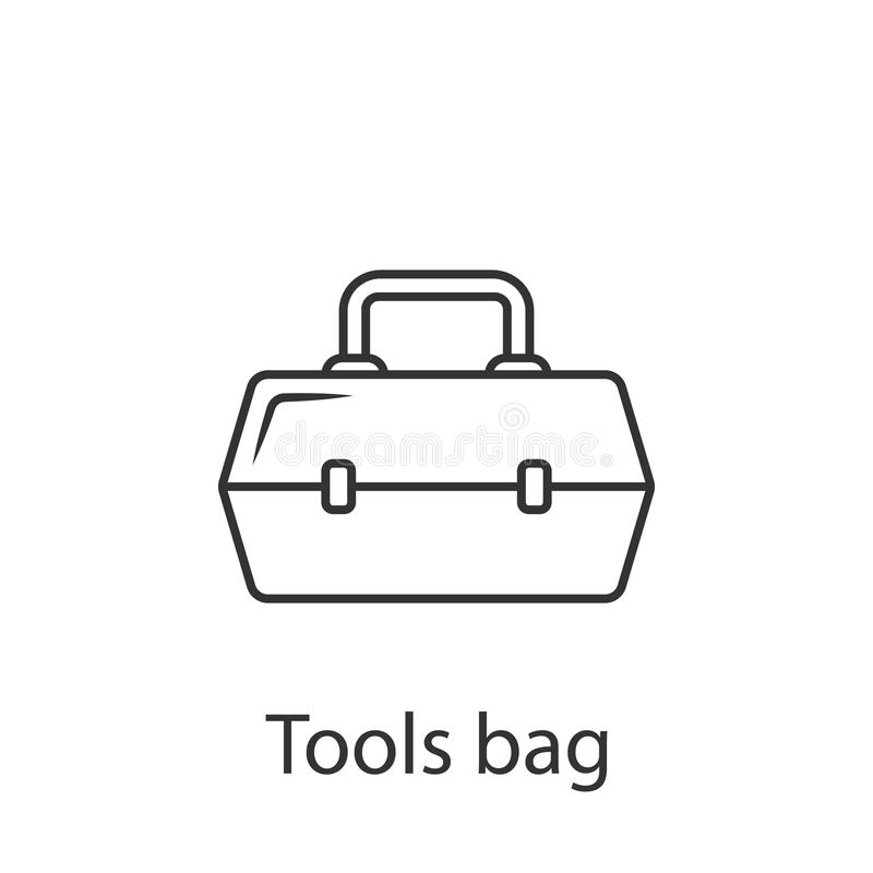 Tool box icon. Simple element illustration. Tool box symbol design from Construction collection set. Can be used in web and mobile royalty free illustration