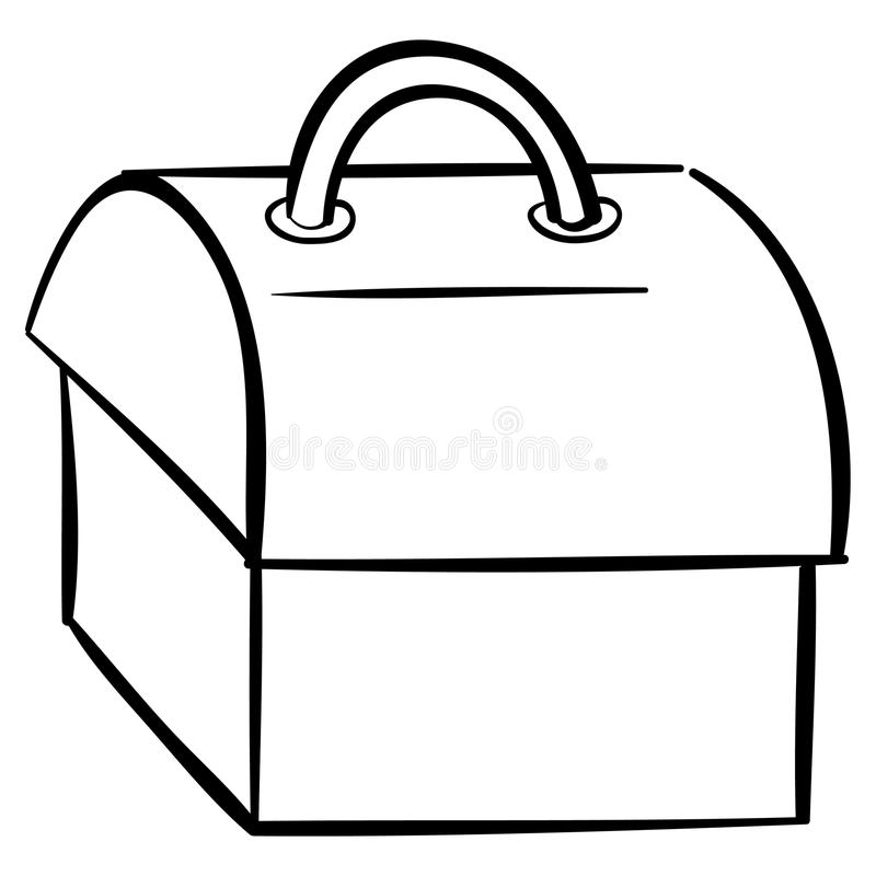 Download Tool box outline stock vector. Image of white, container - 20699878