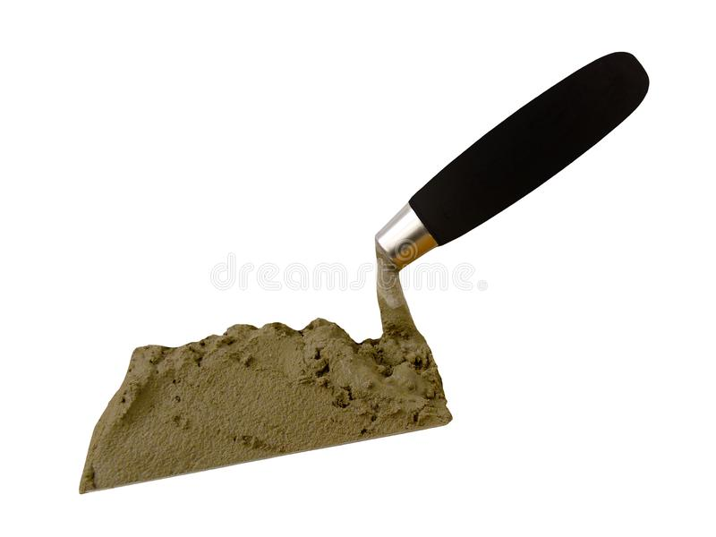 The tool of the builder of the mason a shovel royalty free stock photography