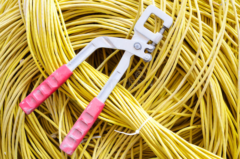 Download Tool and cable stock photo. Image of color, lines, iron - 19857382