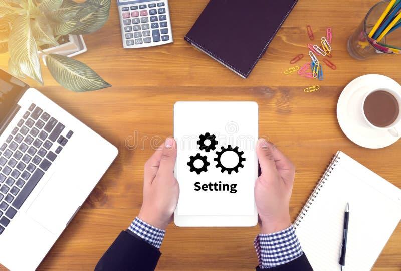Tool di setup messa a punto di configurazione e raggiro della regolazione del meccanismo della ruota immagini stock libere da diritti