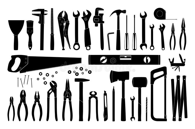 Tools icon. Repair and construction tools collection - do it yourself project