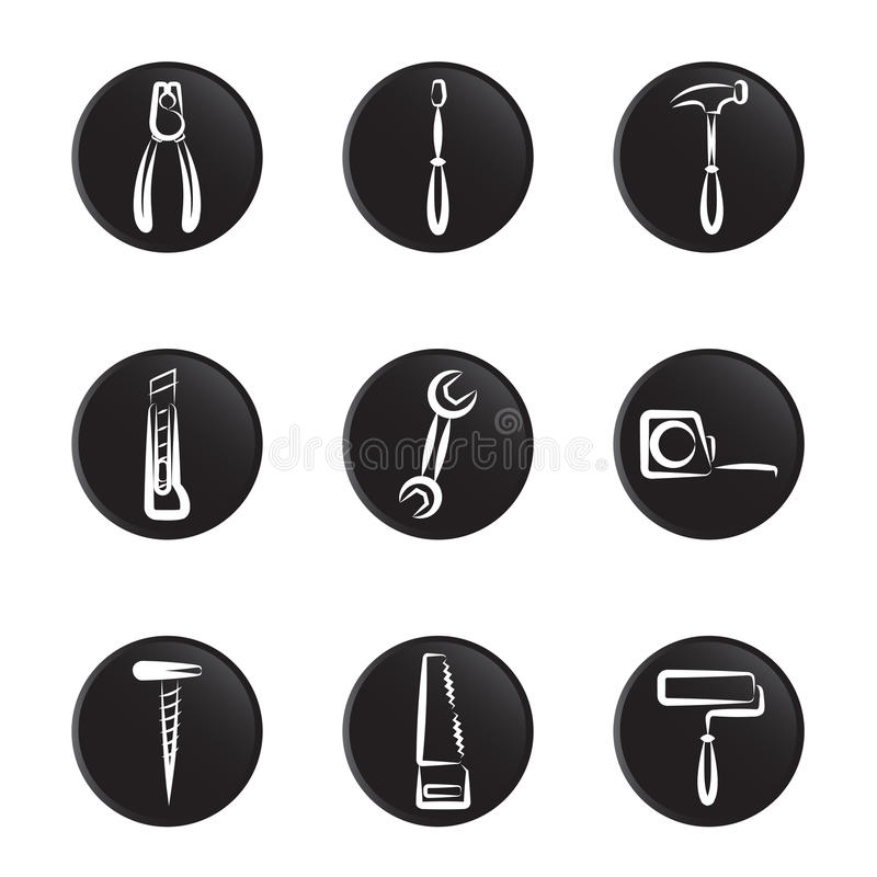 Download Tool icon set stock vector. Image of knife, emergency - 10983623