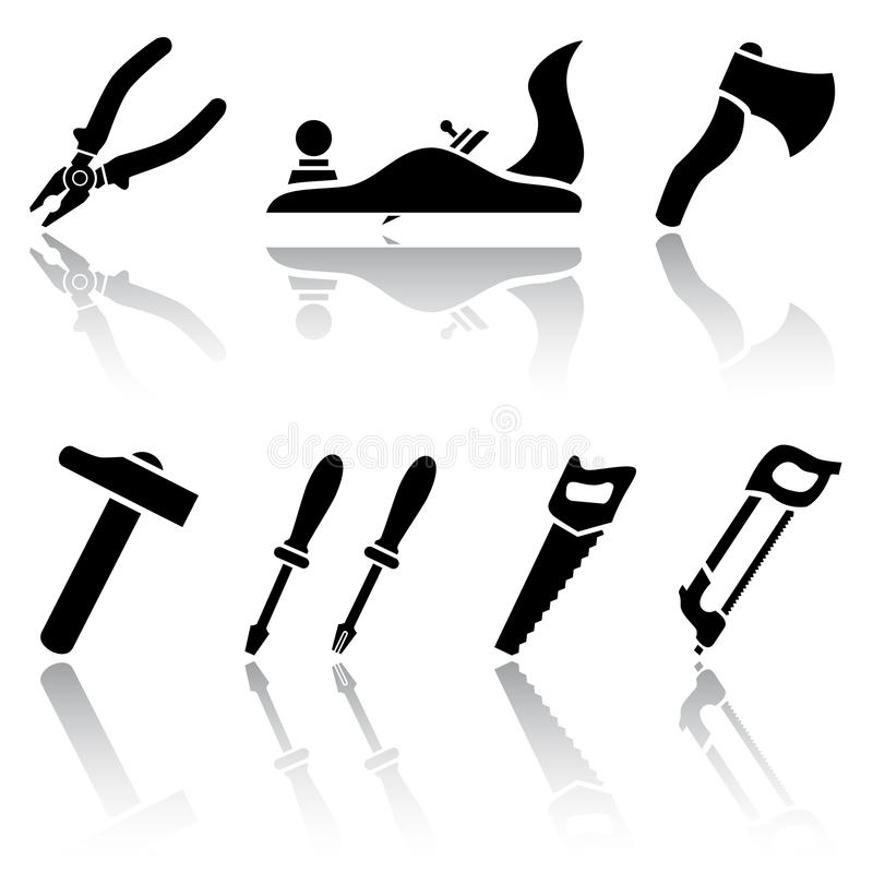 Download Tool icons stock vector. Image of isolated, bucksaw, back - 18779965