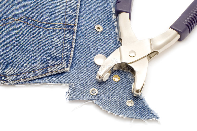 Tool for jeans stock image