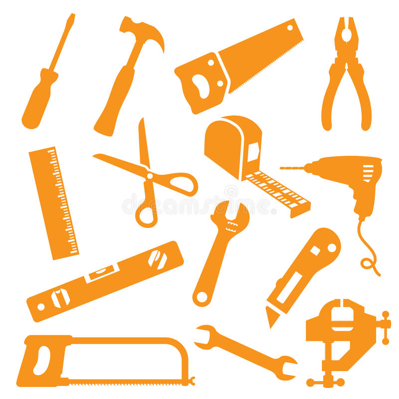 Free Tool Kit Icons Royalty Free Stock Photography - 45749727