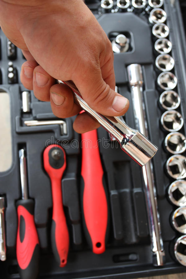 Tool Kit For The Mechanic Of A Car Stock Photos