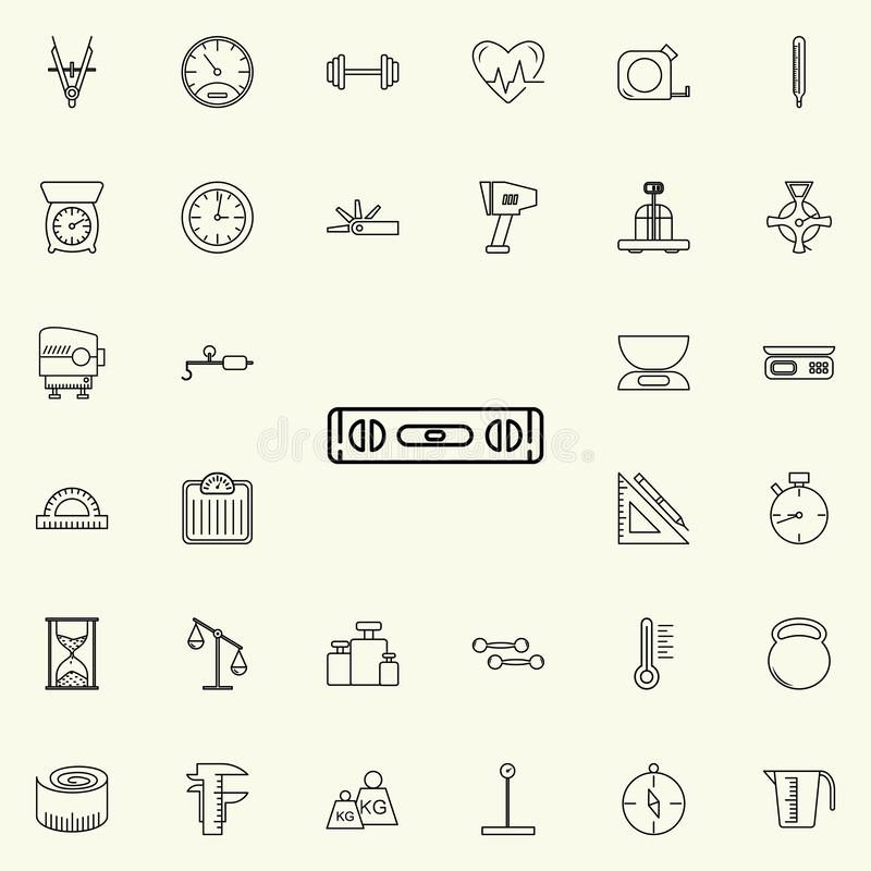 Tool level icon. Measuring Instruments icons universal set for web and mobile. On colored background royalty free illustration