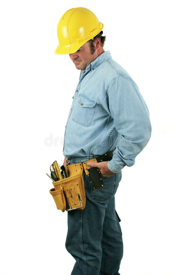 Tool Man - Looking Down royalty free stock photography