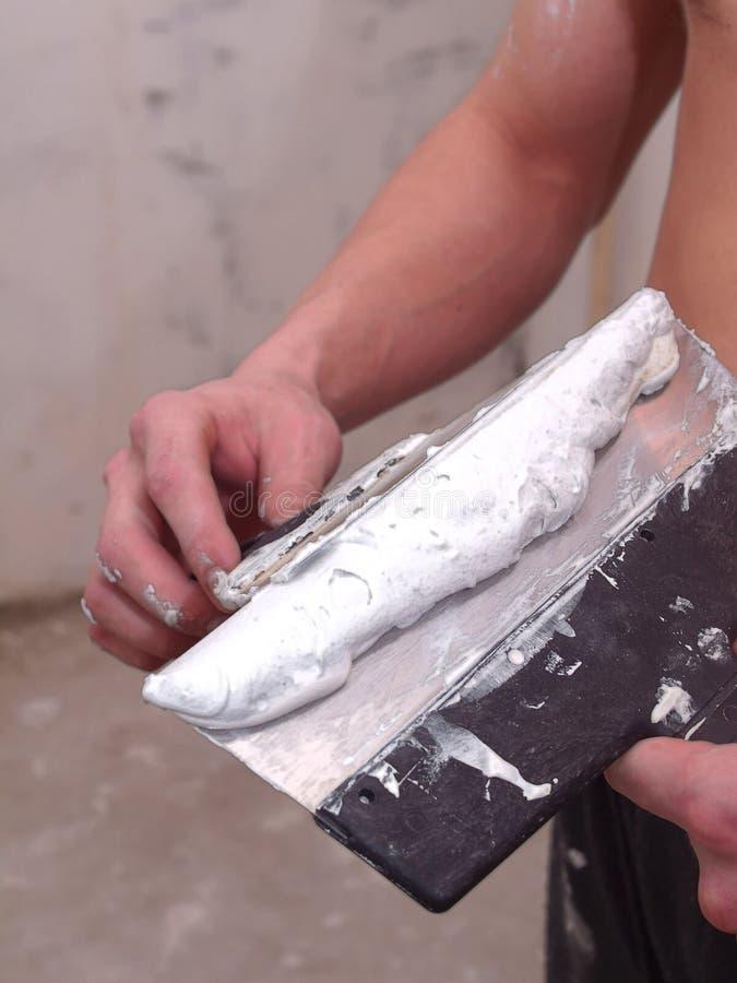 Download The tool plasterer stock image. Image of plaster, soft - 23454399