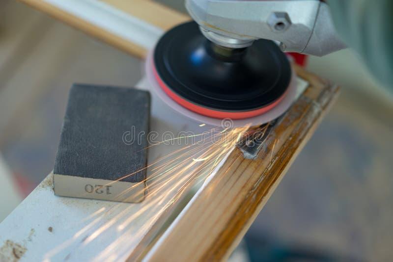 Tool polishing stock photography
