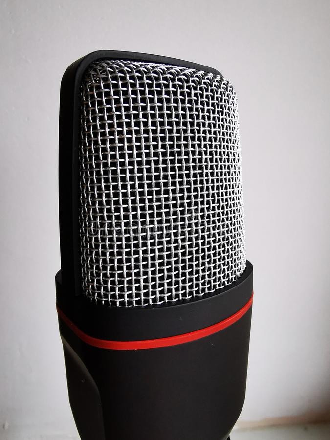 A tool for recording and playing music, voice. Wireless microphone on white background vector illustration