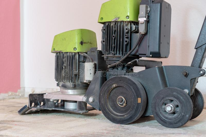 Tool for removing carpet, floor stripper machine royalty free stock photography