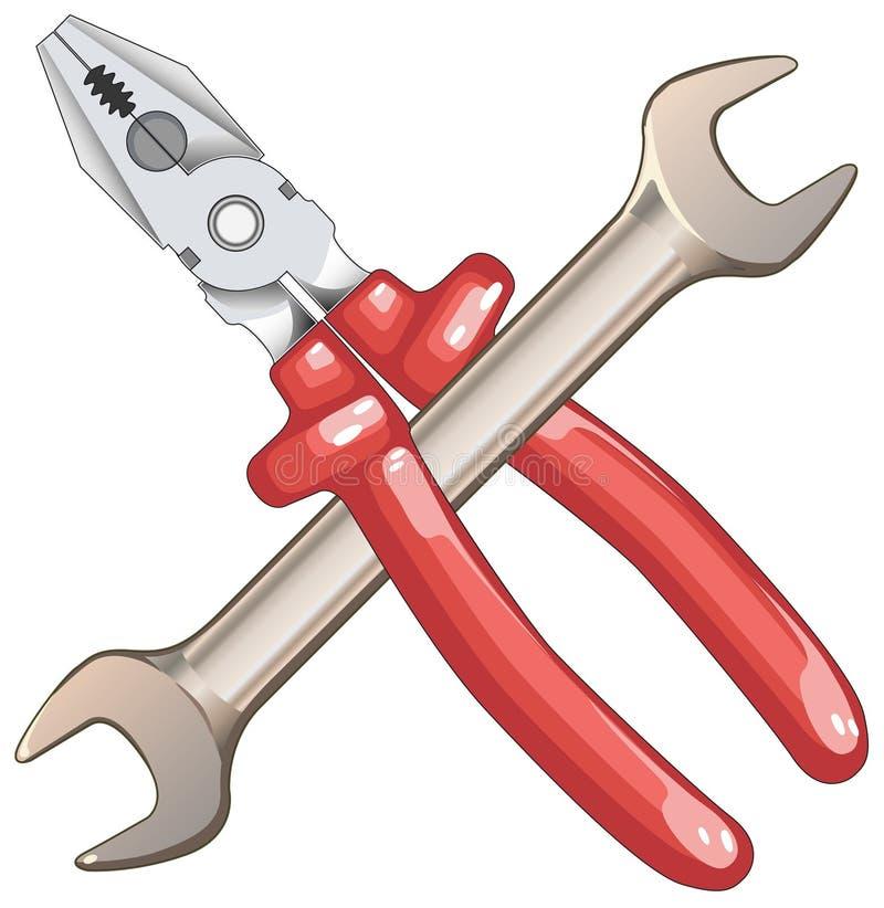 Tool for repair stock illustration