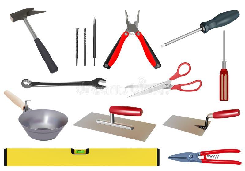 Download Tool set stock illustration. Image of scoop, level, craft - 20312683