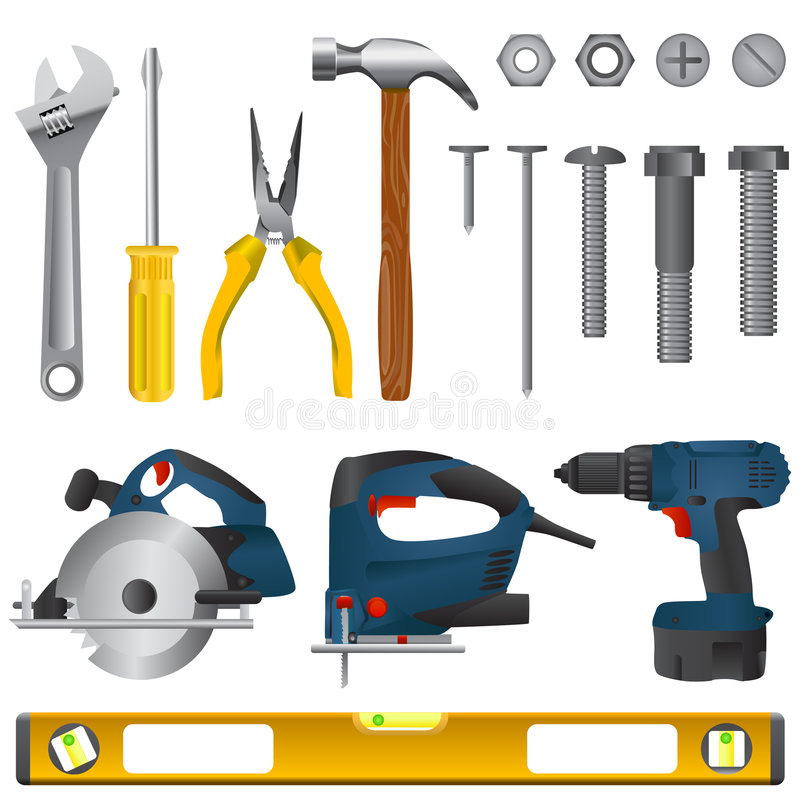 Download Tool set vector stock vector. Image of drilling, finisher - 5440335