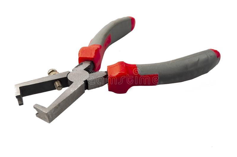 Tool for stripping wires with adjustable. isolate royalty free stock images