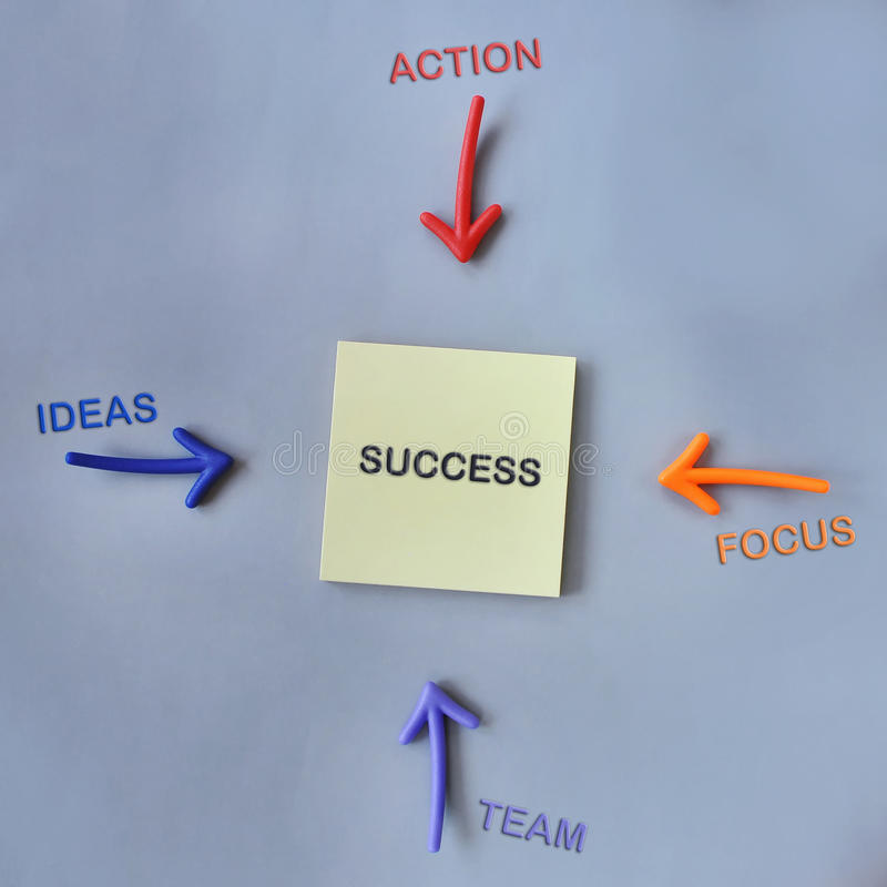 Tool of success on grey background royalty free stock photos