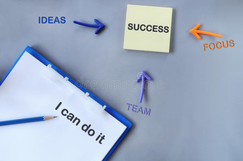 Tool of success on grey background royalty free stock images