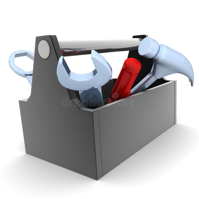 Toolbag. Toolbox, white and isolated background (done in 3d vector illustration