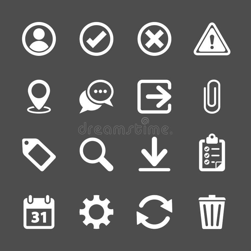 Toolbarsymbolsuppsättning, vektor eps10 vektor illustrationer