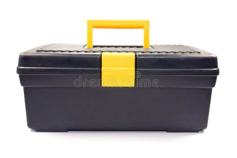toolbox изолированный чернотой стоковая фотография rf