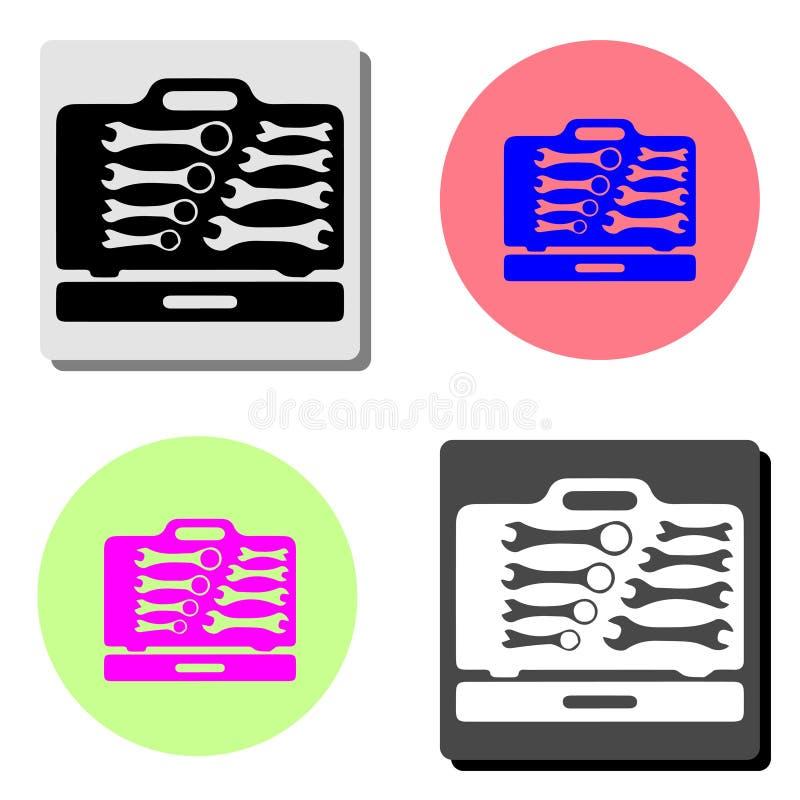 Toolbox Плоский значок бесплатная иллюстрация