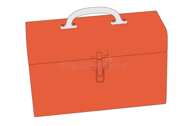 Toolbox royaltyfri illustrationer